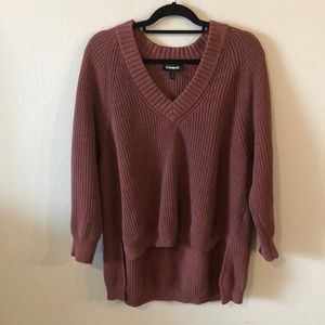 Express Oversided Mauve knit Sweater